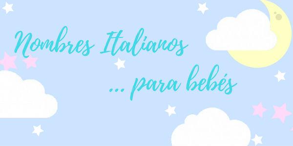 nombres italianos para bebés