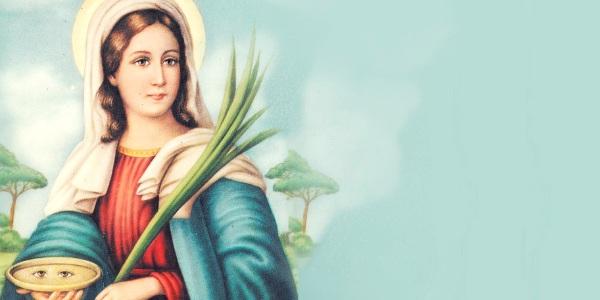 oración a Santa Lucía para curar los ojos