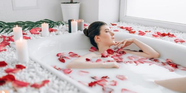 baño de rosas para la buena suerte
