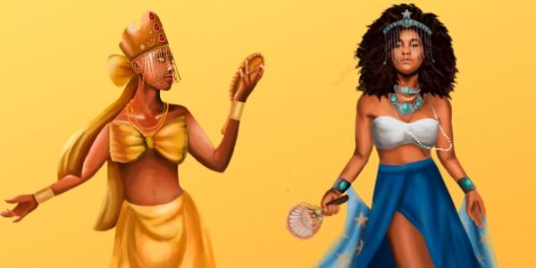 Oshun y Yemayá