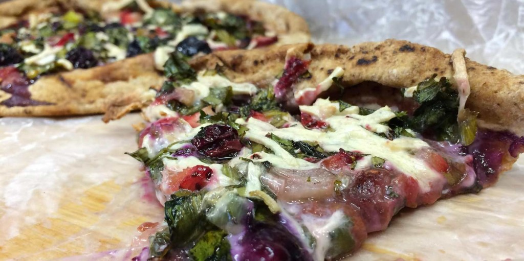 Mixed Berry and Cilantro Pizza