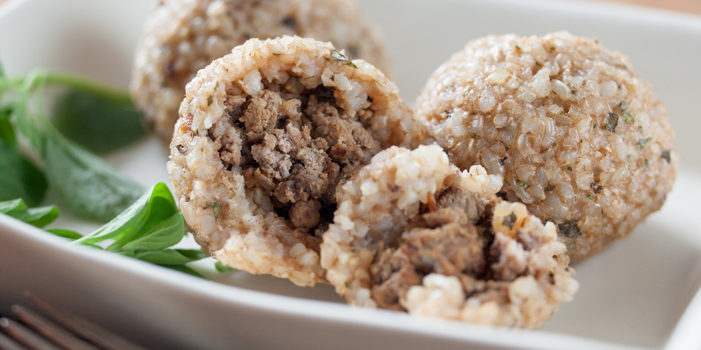 Baked Brown Rice Kibbeh
