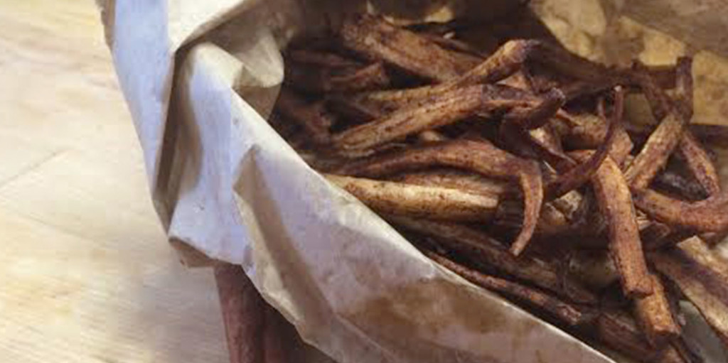 Cinnamon Parsnip Fries