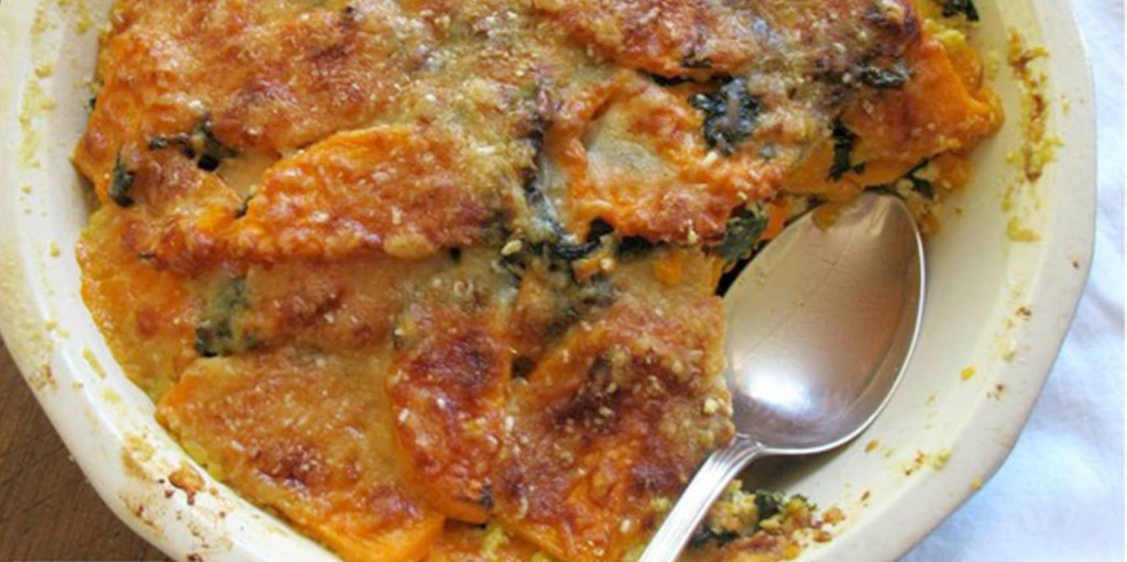 Kale and Sweet Potato Gratin