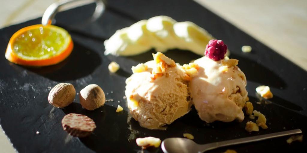 Walnut and Nutmeg Ice Cream