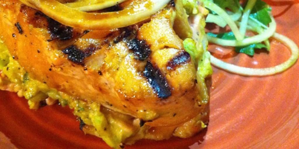 Grilled Avocado Tuna with a Honey Glaze