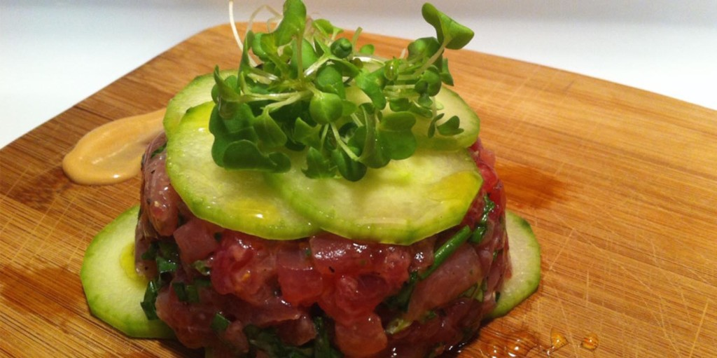 Honey Mustard Tuna Tartare