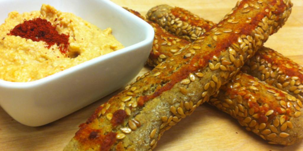 Garlic & Flaxseed Breadsticks