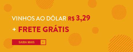 Vinhos ao dólar 3,29