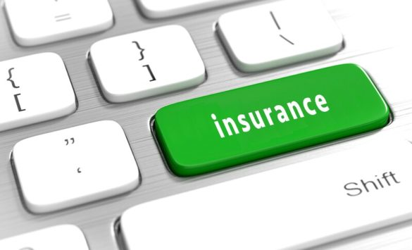 """Corretora de seguros: uma tecla escrita """"insurance"""", que significa """"seguro"""" em inglês"""