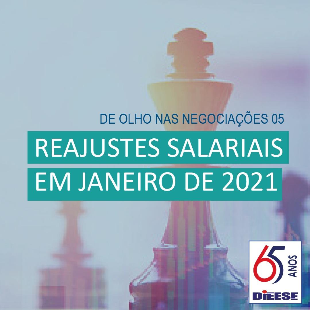 Reajustes salariais em janeiro de 2021