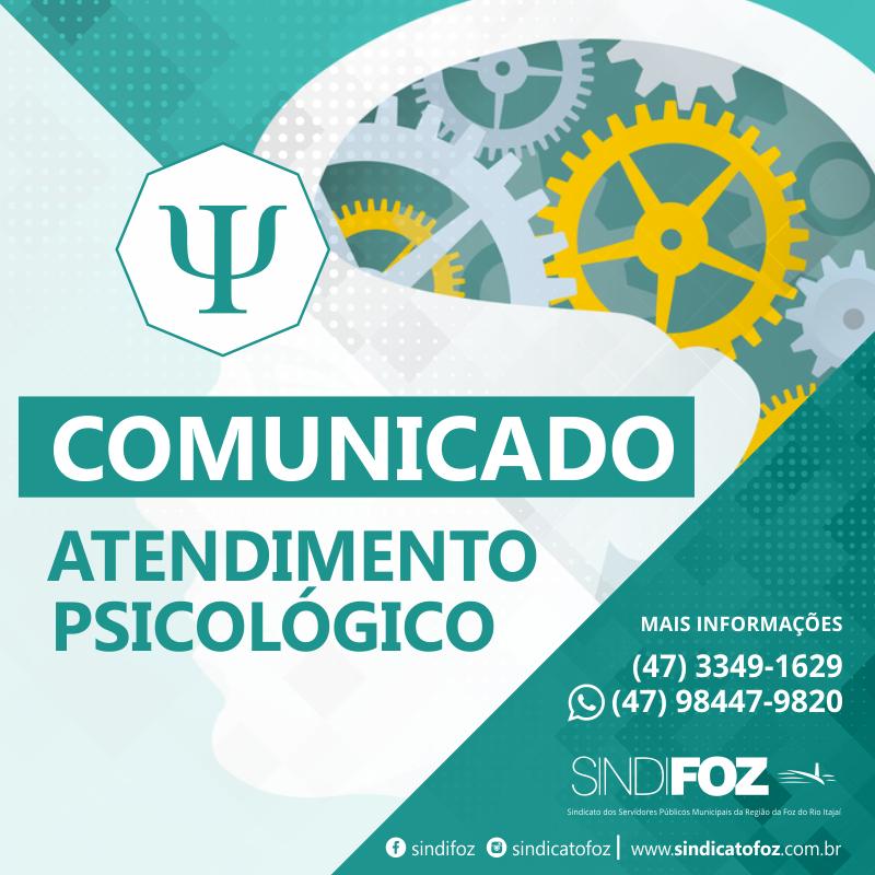 Comunicado – Atendimento Psicológico