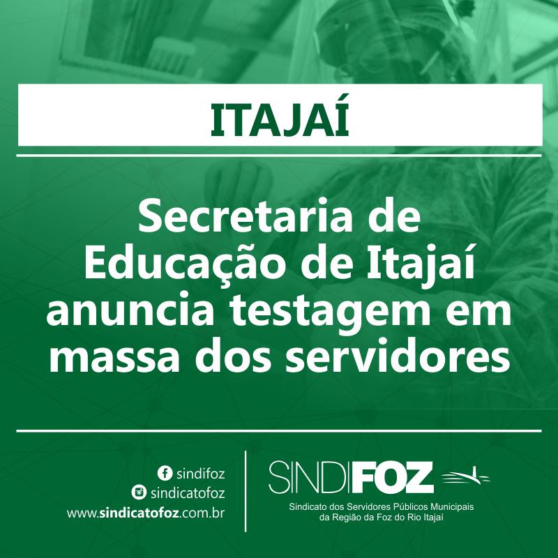 Secretaria de Educação de Itajaí anuncia testagem em massa dos servidores