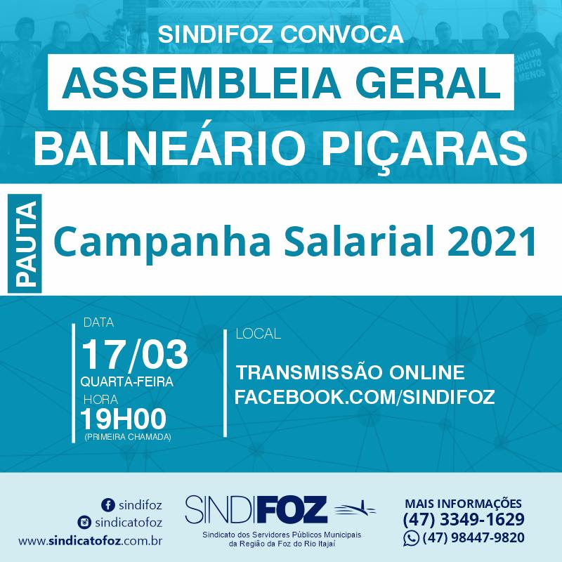Assembleia Geral com servidores de Balneário Piçarras