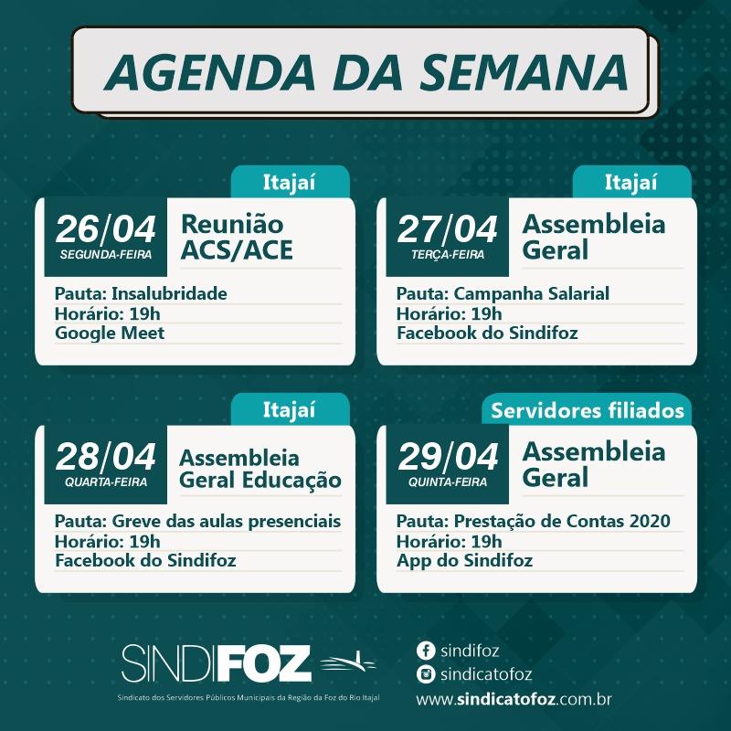 Sindifoz realizará diversas atividades de 26 a 29 de abril