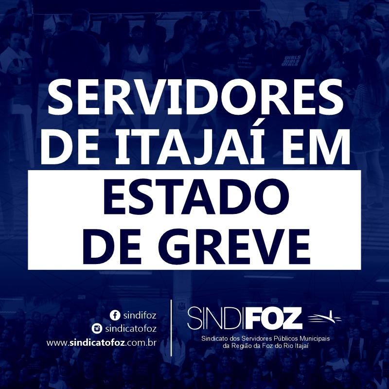 Servidores públicos municipais de Itajaí aprovam estado de greve