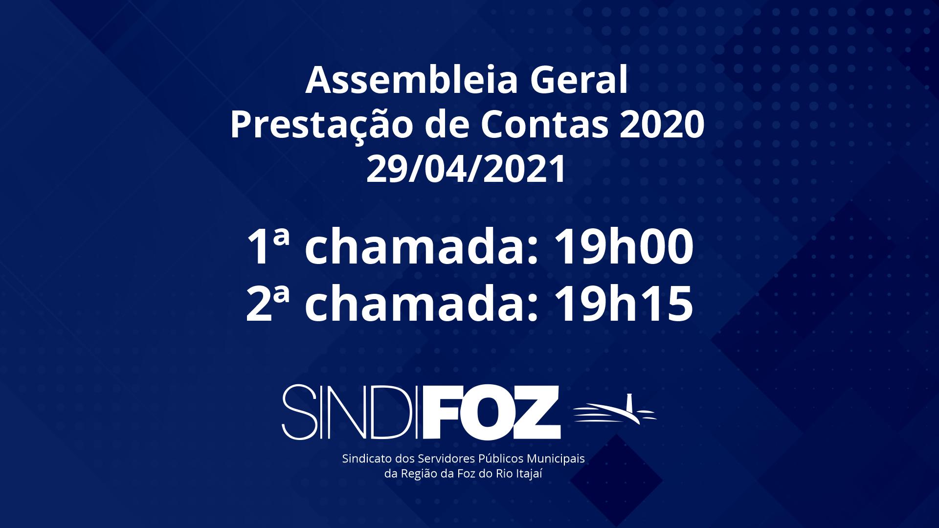 Assembleia Geral de Prestação de Contas 2020