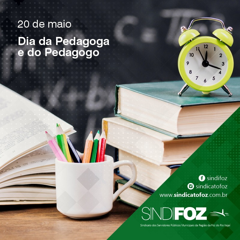 20 de maio – Dia da Pedagoga e do Pedagogo