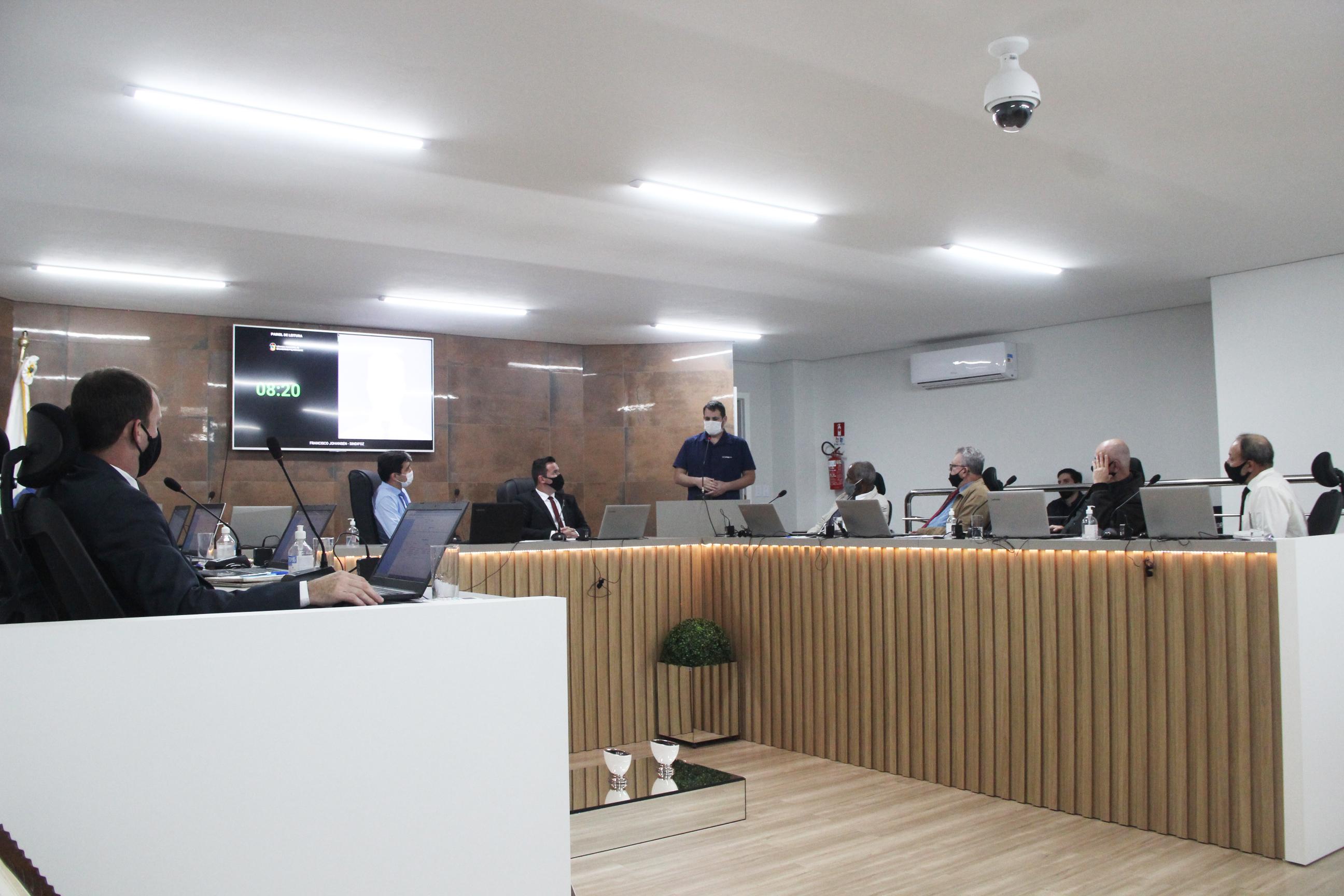 Sindifoz faz uso da tribuna da Câmara de Vereadores de Balneário Piçarras