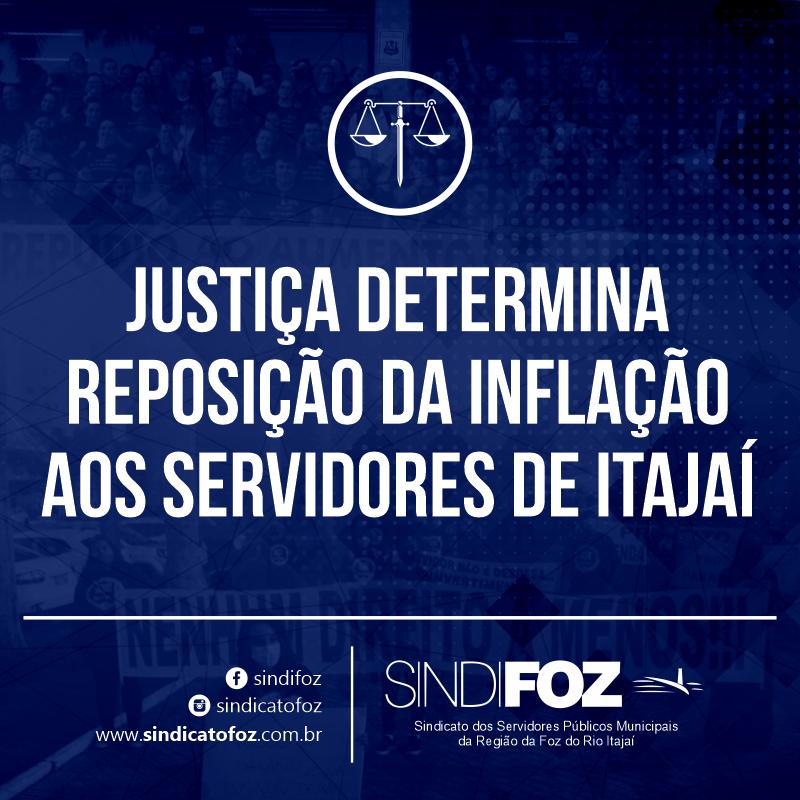Justiça determina reposição da inflação aos servidores de Itajaí
