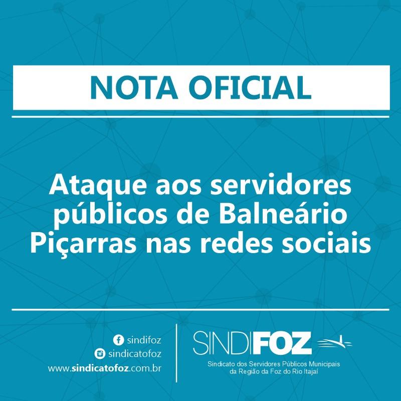 Nota Oficial – Ataque aos servidores públicos de Balneário Piçarras nas redes sociais