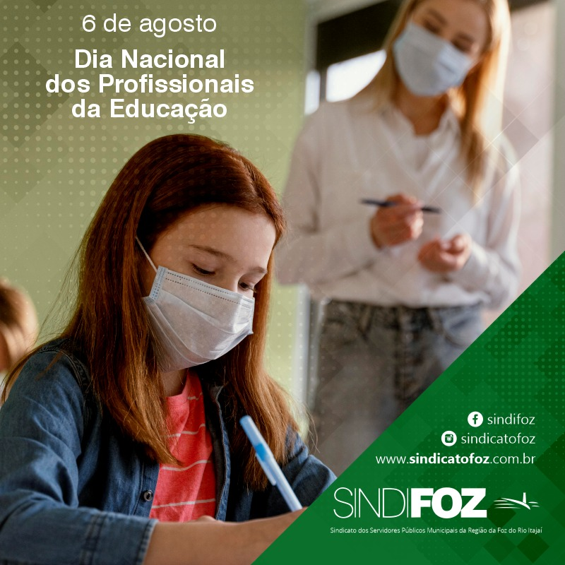 6 de agosto: dia nacional dos profissionais da Educação