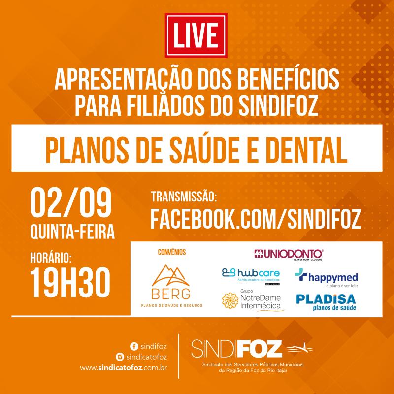 AO VIVO: Live sobre planos de saúde e dental