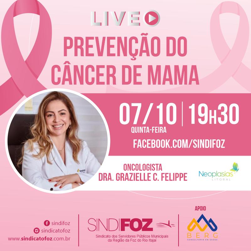É HOJE: Live especial do Outubro Rosa