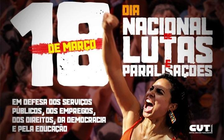 Trabalhadores vão às ruas dia 18 em defesa dos direitos e da democracia