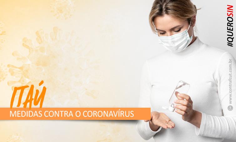 Itaú ignora cobranças do Comando e não divulga medidas preventivas contra o coronavírus