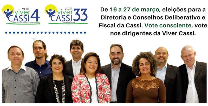 Vote Chapas 4 e 33 – Viver Cassi em defesa da assistência sustentável