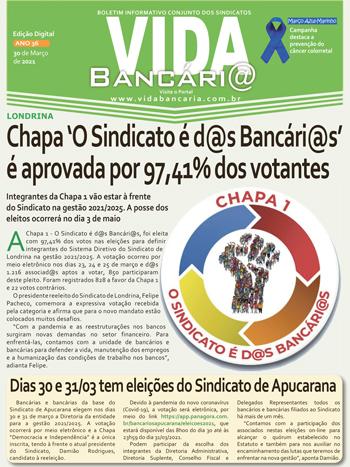 Vida desta semana destaca eleições nos Sindicatos de Londrina e de Apucarana