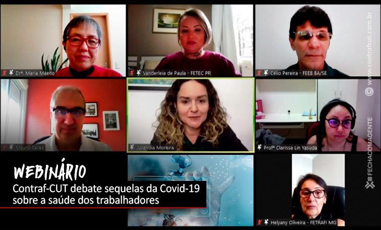 Webinário da Contraf-CUT aborda as sequelas da Covid-19 sobre a saúde dos trabalhadores
