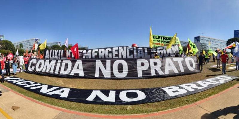 Ato unificado das Centrais em Brasília denuncia governo genocida