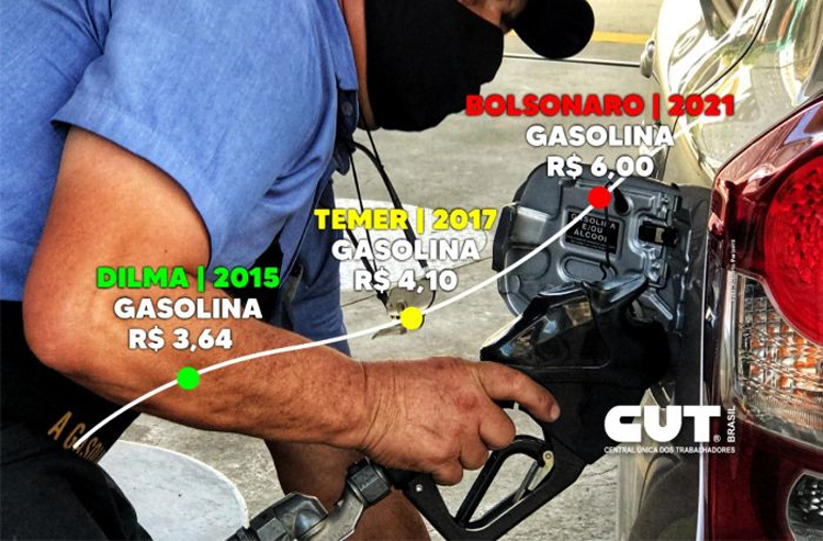Entenda por que Bolsonaro e Temer são os culpados pela alta dos combustíveis