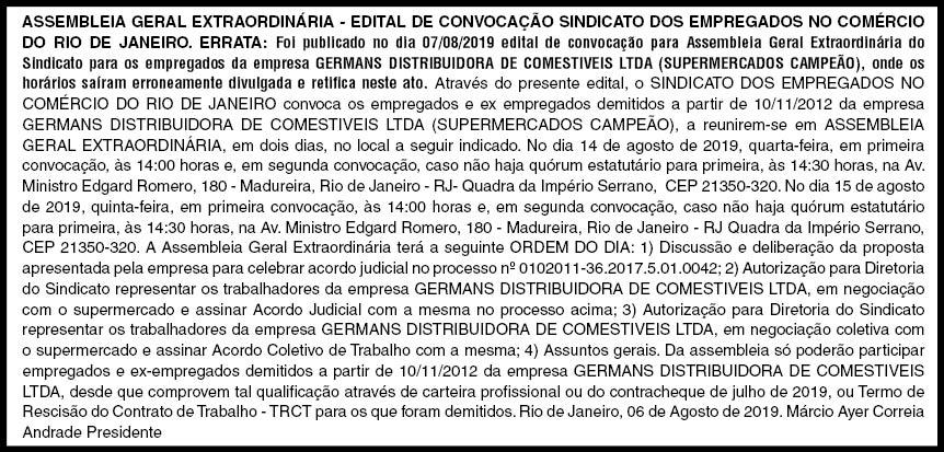 Foto: Jessé Andarilho/ Comerciários