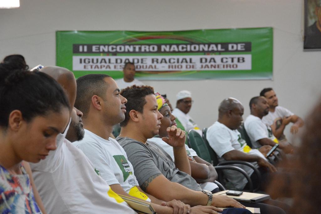 Parte da delegação do Sindicato dos Comerciários