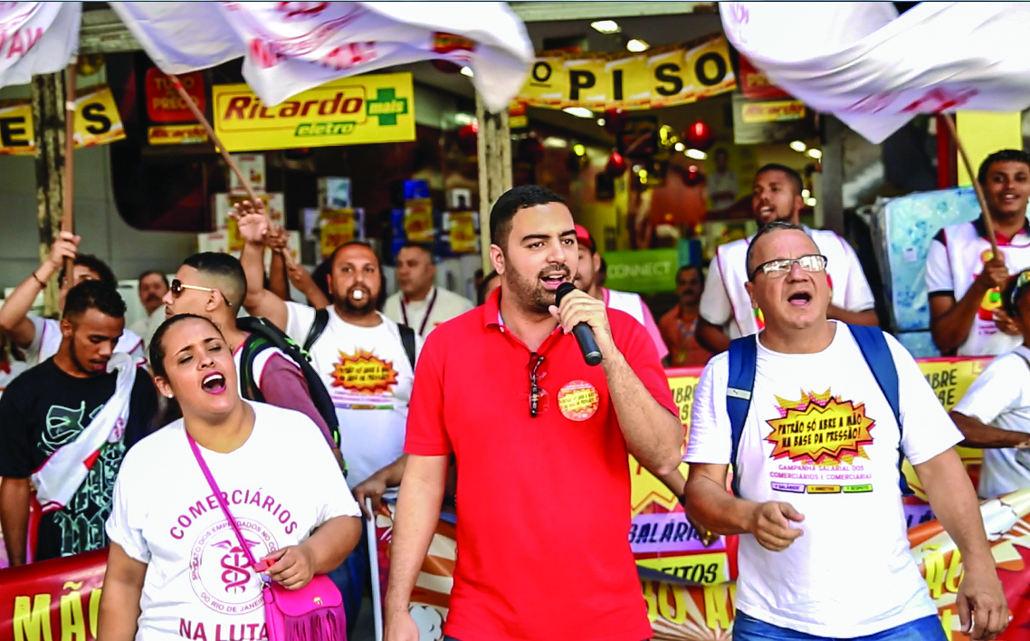 Patrão que vacilar vai ter que aturar o Sindicato na porta da loja. Imagem: Wellington Santos/ Comerciários