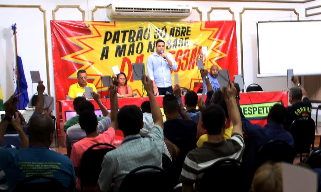 As propostas de CCT foram aprovadas por unanimidade. Imagem: Wellington Santos/ Comerciários