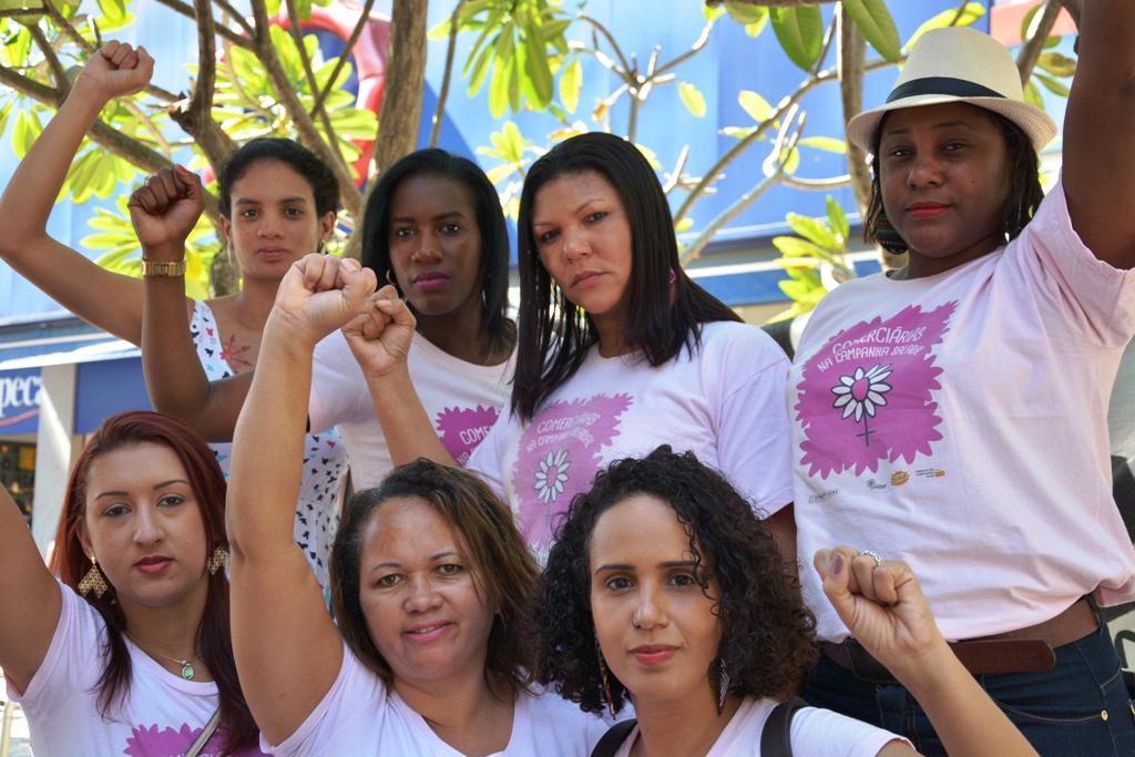 O Coletivo Margaridas em Campo Grande. Foto: Rafael Rodrigues/ Comerciários