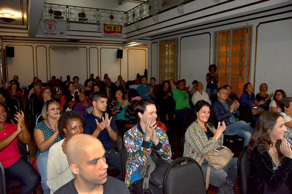 Público da palestra sobre FEMINICÍDIO com a juíza Adriana Ramos de Mello | Foto: Diego Cotta/Comerciários
