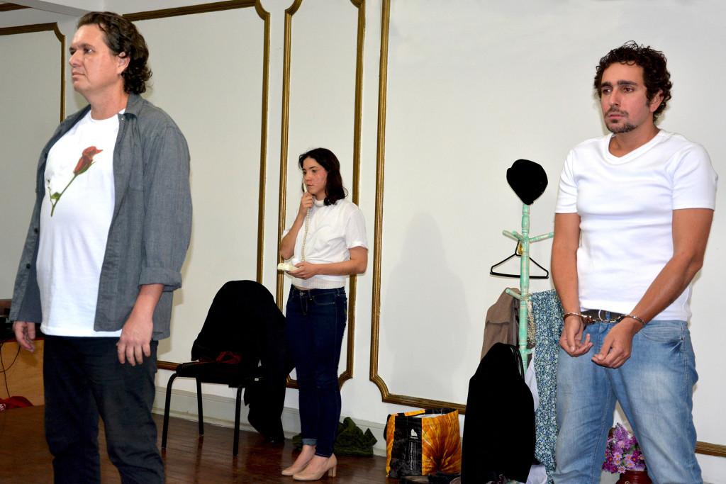 Esquete teatral sobre violência doméstica contra mulher apresentada pela pela Cultura Em Dia Produções | Foto: Diego Cotta/Comerciários