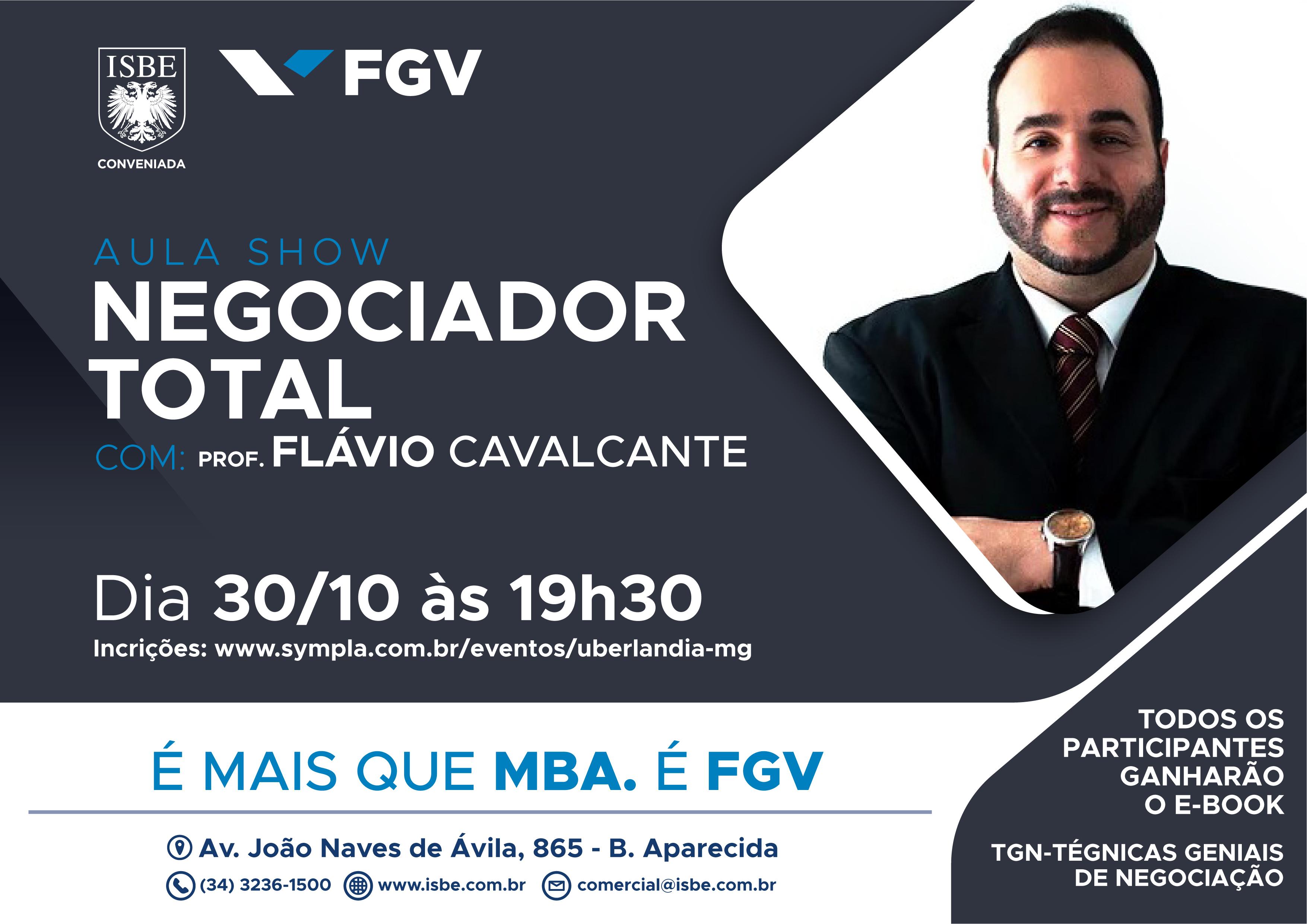 Stiquifar/IEPT comunica que a FGV que está com as inscrições abertas para MBA em Gestão Comercial e MBA em Gestão Empresarial