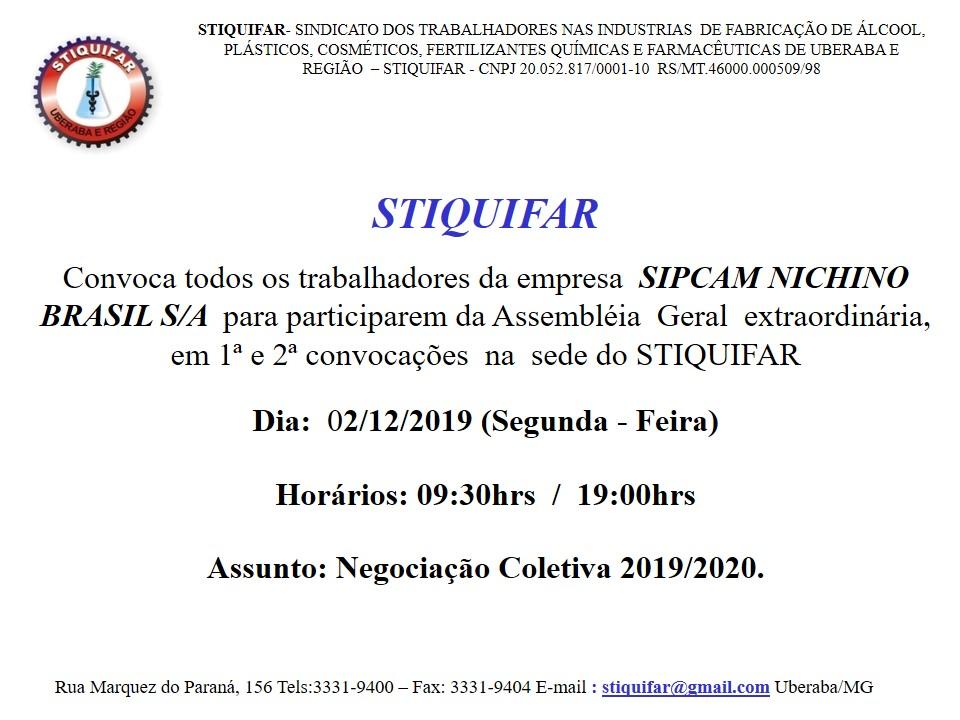 Atenção Trabalhadores da Sipcam Nichino