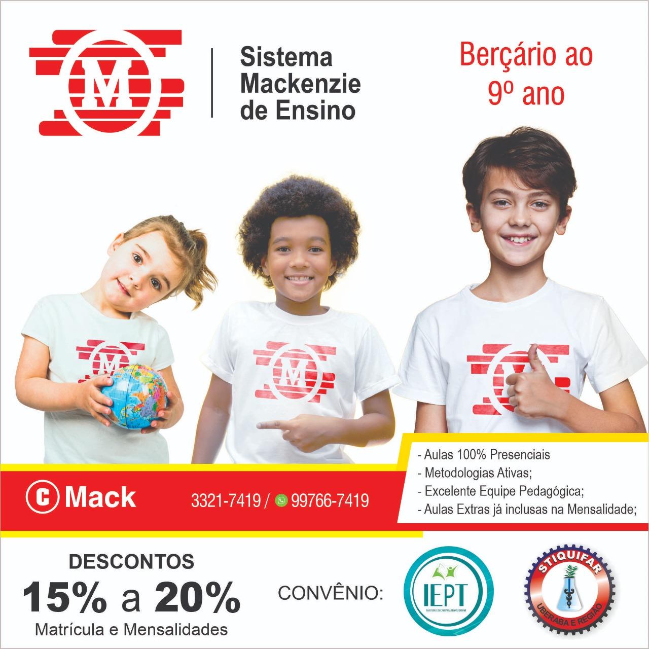 IEPT/Stiquifar fecha parceria com o Sistema Mackenzie de ensino