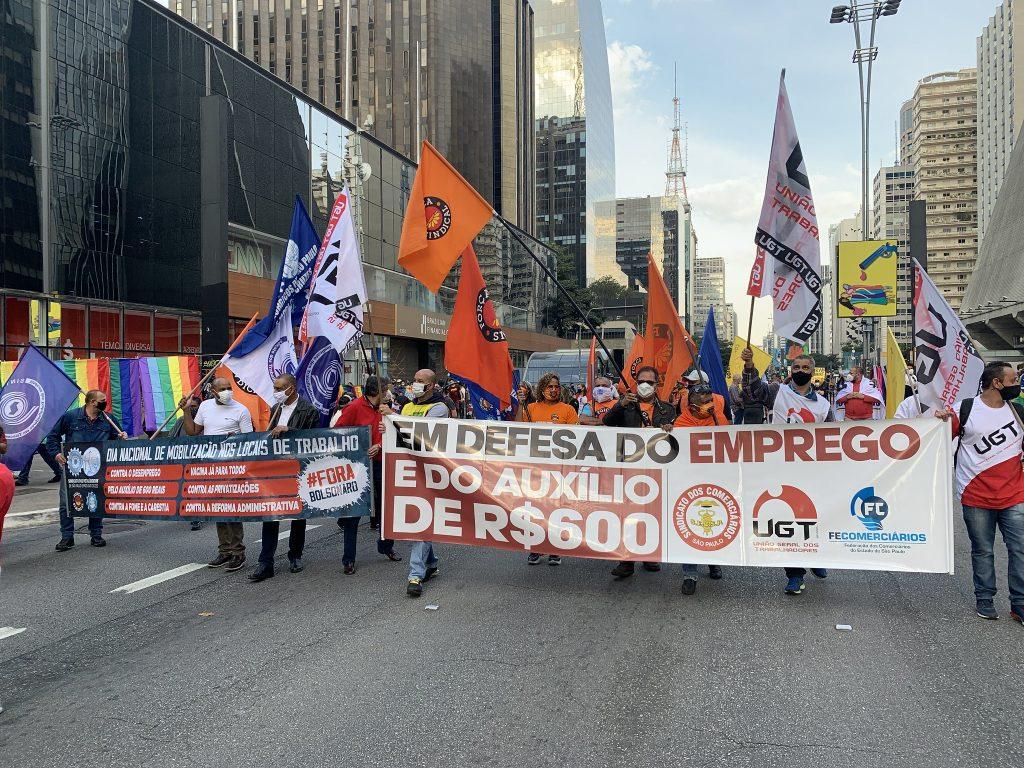 Centrais sindicais querem unir o país, em 24 de julho, por auxilio emergencial de R$ 600, vacinas, emprego e democracia