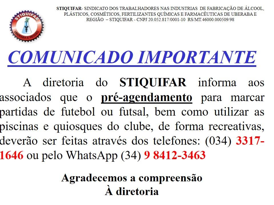 Atenção associados da base sindical para utilizar o clube do Stiquifar