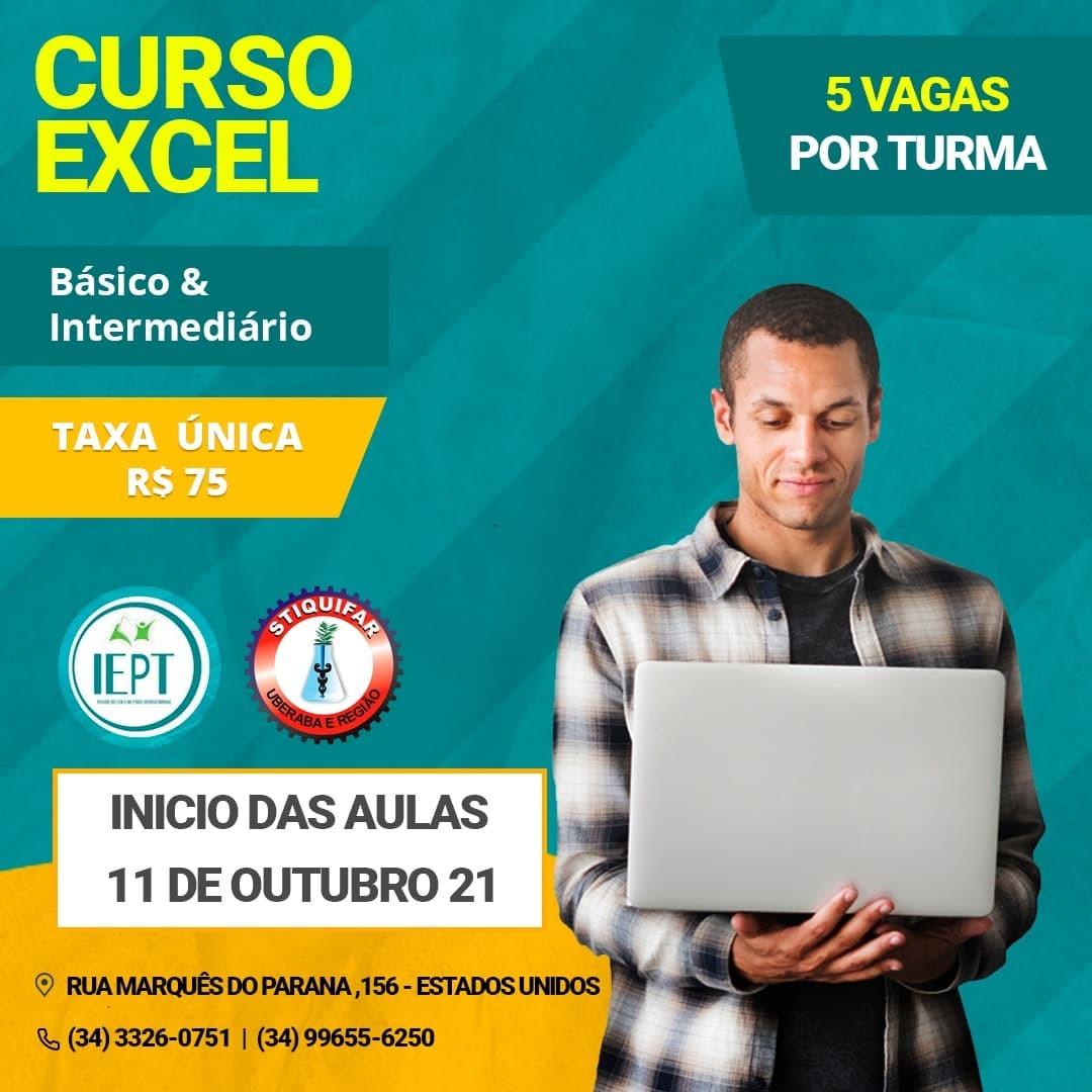 IEPT/Stiquifar oferece curso de Excel básico e Intermediário