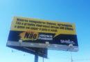 Sindjus-DF espalha outdoors com campanha contra a Reforma da Previdência