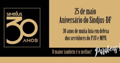 """Confira o resultado do primeiro sorteio da campanha do Sindjus-DF """"30 anos, 30 prêmios"""""""